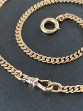 Load image into Gallery viewer, Art Deco 14K Gold 21 Inch Flat Curb Link Watch Chain, Necklace
