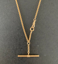Load image into Gallery viewer, Antique 14K Gold 19 Inch Rolo Link Watch Chain, Necklace