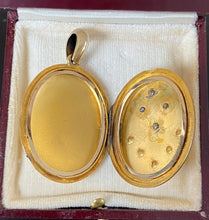 Load image into Gallery viewer, Large Victorian 18K Gold, Rose Cut Diamond and Pearl Locket, Pendant