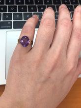 Load image into Gallery viewer, Simple Victorian 10K Gold and Amethyst Ring
