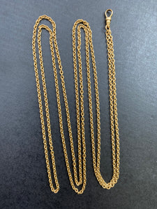 Antique 18K Gold Rolo 51 Inch Belcher Cable Link Longuard Chain