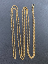 Load image into Gallery viewer, Antique 18K Gold Rolo 51 Inch Belcher Cable Link Longuard Chain