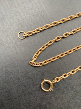 Load image into Gallery viewer, Antique 14K Gold Heavy 15 Inch Rolo Cable Link Chain
