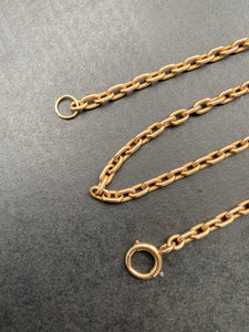 Antique 14K Gold Heavy 15 Inch Rolo Cable Link Chain