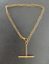 Load image into Gallery viewer, Antique 14K Gold 13.5 Inch Paper Clip Pocket Watch Chain, Bracelet