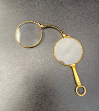 Load image into Gallery viewer, Art Deco 14K Gold Opera Glasses Lorgnette Magnifier Quizzer Pendant