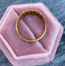 Load image into Gallery viewer, 1960s English 18K Rose Gold Keeper Ring, Love Knot Band