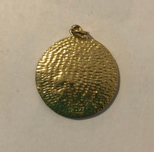 Load image into Gallery viewer, Large Vintage 14K Gold St. Chrisopher Protect Us Medallion Pendant