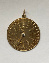 Load image into Gallery viewer, Vintage 14K Gold and Diamond Date Charm for December 19 Birthday Anniversary