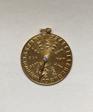 Load image into Gallery viewer, Vintage 14K Gold and Diamond Date Charm for August 18 Birthday Anniversary