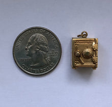 Load image into Gallery viewer, Vintage 14K Gold Articulated Safe Emergency Money Dollar Bill Charm