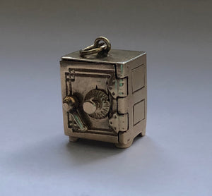 Vintage 14K Gold Articulated Safe Emergency Money Dollar Bill Charm