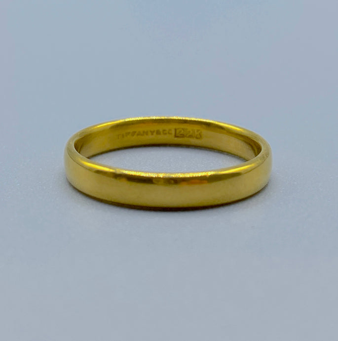 Vintage Tiffany & Co 22K Yellow Gold Band, Wedding Ring