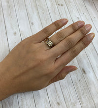 Load image into Gallery viewer, Victorian 14K Gold Seed Pearl Flower Ring Band
