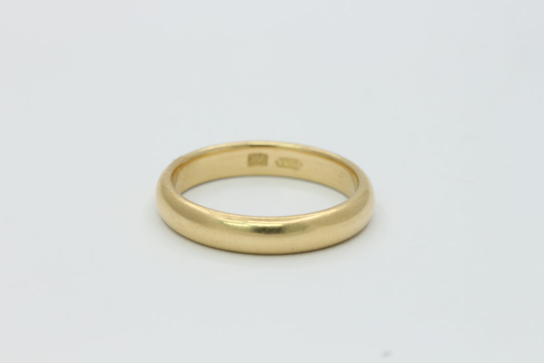 Simple 18K Gold Wedding Band Stacking Ring Size 6.5