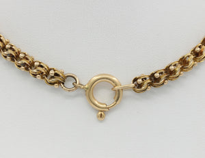 Victorian 14K Gold Yellow Gold Fancy Link Chain Necklace