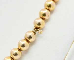 Antique 14K Gold Bead Necklace Choker