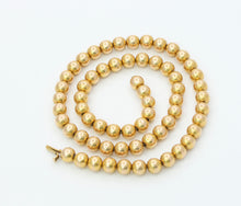 Load image into Gallery viewer, Antique 14K Gold Bead Necklace Choker