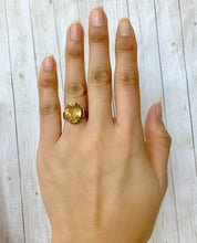 Load image into Gallery viewer, Antique Citrine and 14K Gold Solitaire Ring