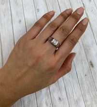 Load image into Gallery viewer, Art Deco Diamond and 14K White Gold Unisex Band Engagement Ring