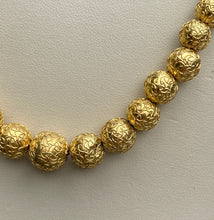 Load image into Gallery viewer, Victorian Etruscan Revival 14K Gold Bead Necklace Chain