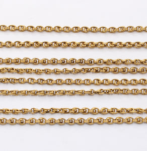 Antique Continental European 18K Gold 60 Inch Chain Necklace - alpha-omega-jewelry