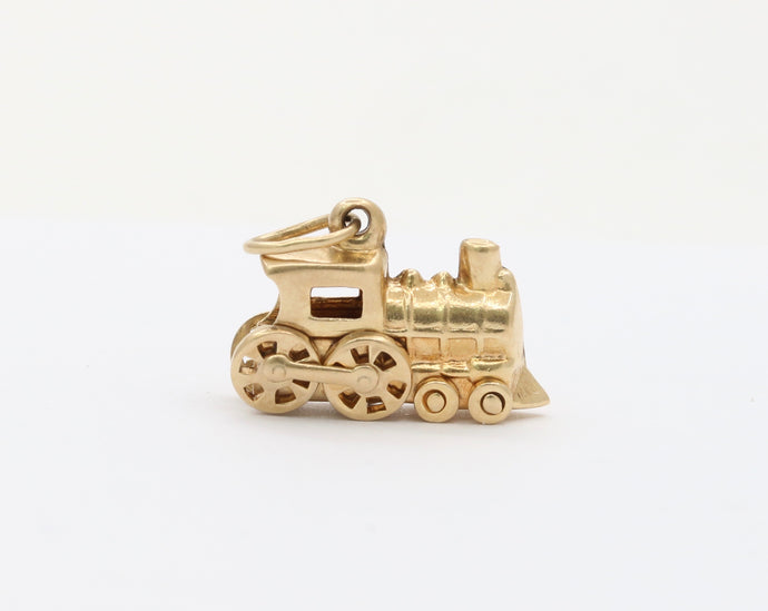 Vintage 14K Gold Articulated Train Locomotive Charm
