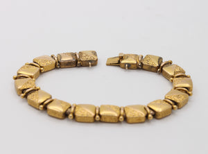 Late Victorian 18K Gold Double Sided Panel Reversible Slide Bracelet