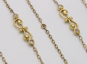 Tanya Farah 18K Gold Long Layering Diamond Chain Necklace - alpha-omega-jewelry