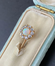 Load image into Gallery viewer, Edwardian Tiffany & Co Opal and 1 Carat Diamond 14K Gold Stick Pin