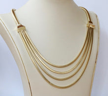 Load image into Gallery viewer, Vintage 14K Gold Layered Festoon Tubogas Style Necklace Chain