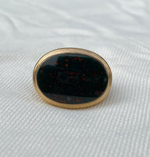 Load image into Gallery viewer, Large Antique 14K Gold Dragon or Sea Serpent Bloodstone Fob Pendant Seal
