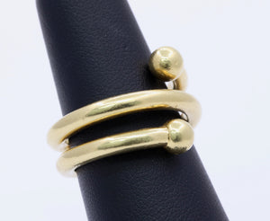 Vintage Tiffany & Co Paloma Picasso 18K Gold Heavy Coil Wrap Ring