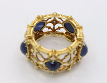 Load image into Gallery viewer, Judith Ripka 18K Gold and Diamond Lattice 18K Gold Eternity Band Ring