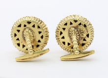 Load image into Gallery viewer, Vintage La Triomphe 18K Gold Diamond and Lapis Lazuli Cufflinks