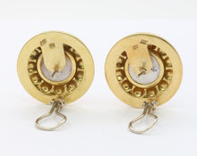 Load image into Gallery viewer, Large Vintage 18K Gold Mabe Pearl Button Clip Earrings