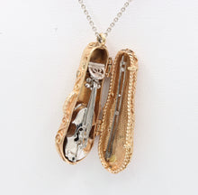 Load image into Gallery viewer, Vintage 14K Gold Articulated Violin Viola in Case Charm Heavy Pendant