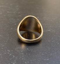 Load image into Gallery viewer, Vintage 10K Gold Turtle Trinity College Signet Ring