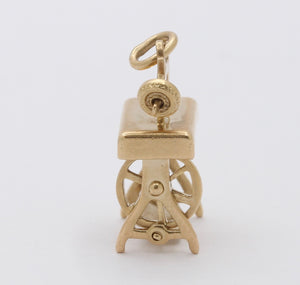 Vintage 14K Gold Sewing Machine Charm - alpha-omega-jewelry
