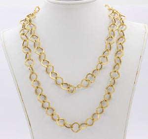 Italian 14K Gold 30 Inch Lightweight Link Necklace Chain