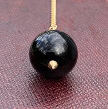 Load image into Gallery viewer, Large Victorian 14K Gold Banded Agate Ball Charm, Pendant