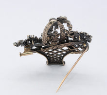 Load image into Gallery viewer, French Victorian 18K Gold Silver Diamond Gemstone Giardinetti Flower Brooch - alpha-omega-jewelry
