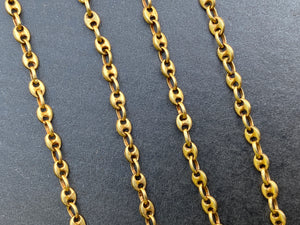 Vintage 14K Gold Mariner Gucci Link 15 Inch Necklace Chain