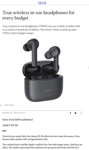 The Straits Times: AUKEY EP-N5