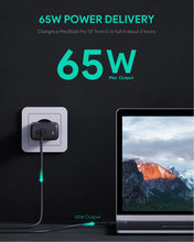 Load image into Gallery viewer, PA-B4 Omnia Duo 65W Dual-Port PD Wall Charger with GaNFast Tech