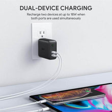 Load image into Gallery viewer, PA-D2 Dual-Port 36W PD Wall Charger with Dynamic Detect