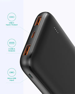 PB-N73S 10000mAH 18W Ultra Thin Portable Charger 3-Port USB-C PD  Fast Charge