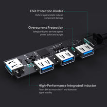 Load image into Gallery viewer, CB-C62 USB C to 4 Port USB 3.1 Aluminium Hub