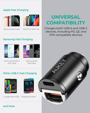 Load image into Gallery viewer, CC-A3 30W PD Dual Port Fast Car Charger