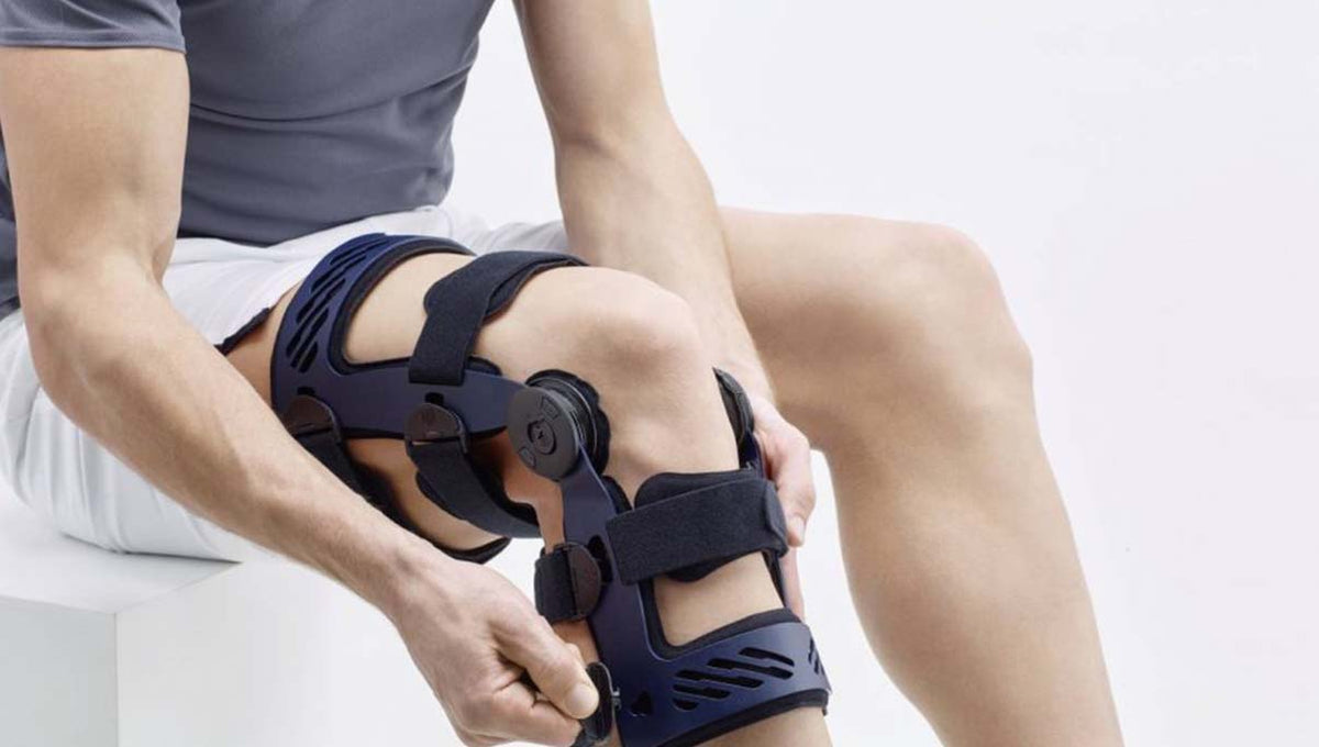 hard frame knee brace orthosis